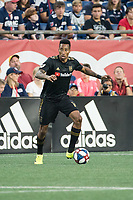 FOXBOROUGH, MA - AUGUST 3: Mark-Anthony Kaye #14 of Los Angeles FC in the backfield during a game between Los Angeles FC and New England Revolution at Gillette Stadium on August 3, 2019 in Foxborough, Massachusetts.