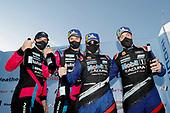 #86 Meyer Shank Racing w/Curb-Agajanian Acura NSX GT3, GTD: Mario Farnbacher, Matt McMurry, Alvaro Parente and Misha Goikhberg celebrate in Victory Lane