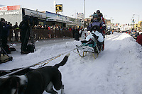 March 3, 2007   during the Iditarod ceremonial start day in Anchorage