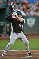 Cole Anderson (24) of the Grand Junction Rockies at bat against the Ogden Raptors in Pioneer League action at Lindquist Field on August 25, 2016 in Ogden, Utah. The Rockies defeated the Raptors 12-3. (Stephen Smith/Four Seam Images)