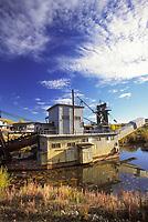 Gold dredge #8, relic gold mining dredge in Fox, near Fairbanks, Alaska
