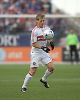 Chicago Fire forward Chris Rolfe (17) traps the ball. The New England Revolution out scored the Chicago Fire, 2-1, in Game 1 of the Eastern Conference Semifinal Series at Gillette Stadium on November 1, 2009.