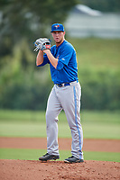 Toronto Blue Jays pitcher Patrick Murphy (54) gets ready to deliver a pitch during an Instructional League game against the Philadelphia Phillies on September 30, 2017 at the Carpenter Complex in Clearwater, Florida.  (Mike Janes/Four Seam Images)