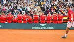 Davis Cup by BNP Paribas.<br /> World Group Quarterfinal.<br /> Spain vs Germany.<br /> Valencia (Spain).<br /> April 8, 2018.<br /> <br /> Rafael Nadal vs Alexander Zverev - 6-1 6-4 6-4.<br /> David Ferrer vs Philipp Kohlschreiber - 7-6(1) 3-6 7-6(4) 4-6 7-5.