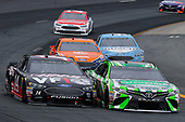 #18: Kyle Busch, Joe Gibbs Racing, Toyota Camry Interstate Batteries and #14: Clint Bowyer, Stewart-Haas Racing, Chevrolet Camaro Haas 30 Years of the VF1