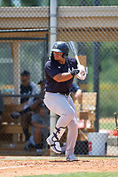 FCL Yankees Jasson Dominguez (25) bats during a game against the FCL Tigers on June 28, 2021 at Tigertown in Lakeland, Florida.  (Mike Janes/Four Seam Images)