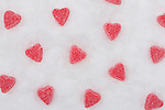 Small heart-shaped candies
