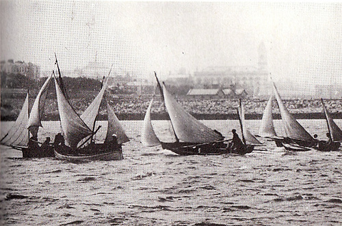 The 1884-founded Dublin Bay Sailing Club's motley fleet in 1884