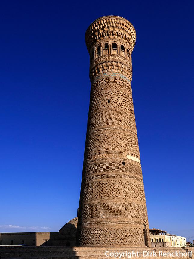 Kalon Minarett, Buchara, Usbekistan, Asien, UNESCO-Weltkulturerbe<br /> Kalon Minaret, Historic City of Bukhara, Uzbekistan, Asia, UNESCO Heritage Site