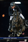 John Whitaker on Argento competes during the Airbus Trophy at the Longines Masters of Hong Kong on 20 February 2016 at the Asia World Expo in Hong Kong, China. Photo by Juan Manuel Serrano / Power Sport Images