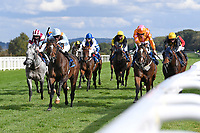 Winner of The Byerley Stud Handicap Stakes Ice Station Zebra ridden by Rob Hornby and trained by Ralph Beckett      during Horse Racing at Salisbury Racecourse on 1st October 2020