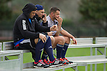 Josh Hohneck, Elliot Dixon, Brendon Edmonds. Maori All Blacks Tour of Fiji. Training at Kings College, Otahuhu, Auckland. July 7 2015. Photo: Marc Weakley