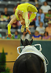 8 October 2010: Simone Wiegele (GER) performs during the Vaulting Techincals in the World Equestrian Games in Lexington, Kentucky