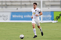 CARY, NC - AUGUST 01: Jonathan Dean #24 plays the ball during a game between Birmingham Legion FC and North Carolina FC at Sahlen's Stadium at WakeMed Soccer Park on August 01, 2020 in Cary, North Carolina.