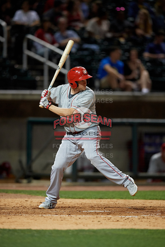 Chattanooga Lookouts Gavin LaValley (15) at bat during a Southern League game against the Birmingham Barons on May 2, 2019 at Regions Field in Birmingham, Alabama.  Birmingham defeated Chattanooga 4-2.  (Mike Janes/Four Seam Images)