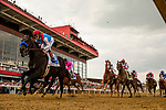 MAY 15, 2021: Medina Spirit with John Velazquez lead the field in the Preakness Stakes at Pimlico Racecourse in Baltimore, Maryland on May 15, 2021. EversEclipse Sportswire/CSM