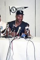 Chicago White Sox Bo Jackson (8) on rehab assignment with the Sarasota White Sox circa August 1991 at Ed Smith Stadium in Sarasota, Florida.  (MJA/Four Seam Images)