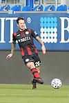 Moritz Kuhn (Nr.20, SV Wehen Wiesbaden) am Ball  beim Spiel in der 3. Liga, SV Wehen Wiesbaden - SV Waldhof Mannheim.<br /> <br /> Foto © PIX-Sportfotos *** Foto ist honorarpflichtig! *** Auf Anfrage in hoeherer Qualitaet/Aufloesung. Belegexemplar erbeten. Veroeffentlichung ausschliesslich fuer journalistisch-publizistische Zwecke. For editorial use only. DFL regulations prohibit any use of photographs as image sequences and/or quasi-video.