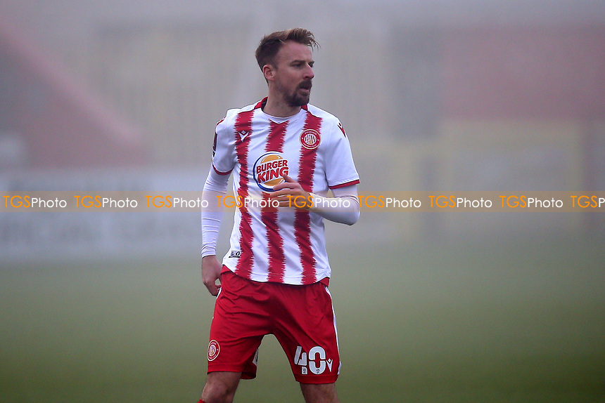 Chris Lines of Stevenage during Stevenage vs Swansea City, Emirates FA Cup Football at the Lamex Stadium on 9th January 2021