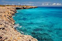 Coastel scenic of Bonaire, Netherland Antilles, Bonaire, Caribbean Sea, Atlantic, Washington Slagbaai National Park, Wayaka