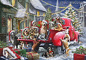 Marcello, CHRISTMAS ANIMALS, WEIHNACHTEN TIERE, NAVIDAD ANIMALES, paintings+++++,ITMCXM2203A,#xa# ,pickup,