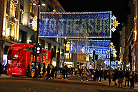 The iconic Oxford Street Christmas lights are now turned on in the famous London shopping street. Ironically we now have at least four weeks of Lockdown with the majority of the shops shut down. London November 4th 2020<br /> <br /> Photo by Keith Mayhew
