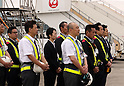 Plane arrives at Haneda with bodies of seven Japanese victims in Dhaka terrorist attack