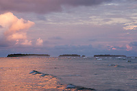 Sunrise over the islands of Majuro Atoll, July 2009.