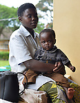 A mother and her baby at Kibuye Hospital, Karongi District, Western Rwanda