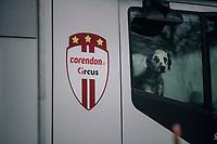 CX World Champion Mathieu Van Der Poel's (NED/Correndon-Circus) guardian<br /> <br /> Superprestige cyclocross Hoogstraten 2019 (BEL)<br /> Elite Men's Race<br /> <br /> ©kramon