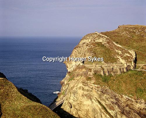 Arthurs Castle, Tintagel, Cornwall. Uk. Celtic Britain published by Orion.