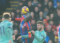Crystal Palace Cheikhou Kouyate and Arsenal's Shkodran Mustafi during the Premier League match between Crystal Palace and Arsenal at Selhurst Park, London, England on 28 October 2018. Photo by Andrew Aleksiejczuk / PRiME Media Images.
