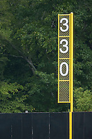 The right field foul pole at Dan Daniels Park in Danville, VA, Sunday July 27, 2008.