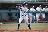 Rylan Bannon (6) of the Xavier Musketeers at bat against the Penn State Nittany Lions at Coleman Field at the USA Baseball National Training Center on February 25, 2017 in Cary, North Carolina. The Musketeers defeated the Nittany Lions 10-4 in game one of a double header. (Brian Westerholt/Four Seam Images)
