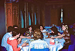 US School Group At Dinner