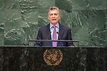 DSG meeting<br /> <br /> AM Plenary General DebateHis<br /> <br /> <br />  His Excellency Mauricio MACRI President of the Republic of Argentina