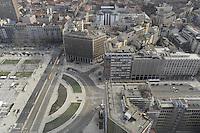 - Milan, the city's panorama from the 31st floor of the Pirelli skyscraper, headquarters of Lombardy Region Authority; the  Duca D'Aosta square<br /> <br /> - Milano, panorama della citt? dal 31mo piano del grattacielo Pirelli, sede della Regione Lombardia;  piazza Duca D'Aosta