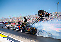 Aug 8, 2020; Clermont, Indiana, USA; NHRA top fuel driver Antron Brown during qualifying for the Indy Nationals at Lucas Oil Raceway. Mandatory Credit: Mark J. Rebilas-USA TODAY Sports