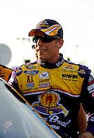 Feb 20, 2009; Fontana, CA, USA; NASCAR Sprint Cup Series driver Jamie McMurray during qualifying for the Auto Club 500 at Auto Club Speedway. Mandatory Credit: Mark J. Rebilas-