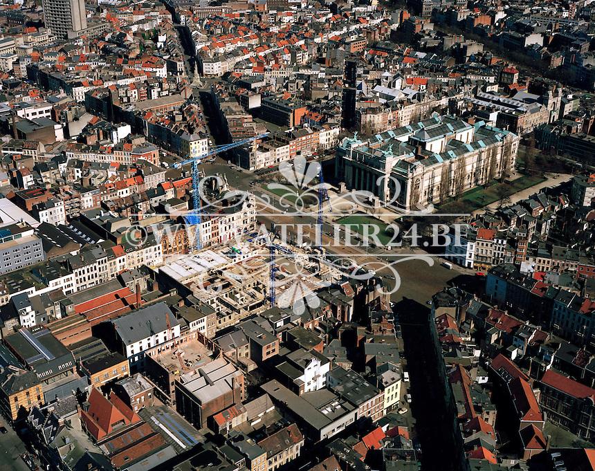 Maart 1996. Bouw Hippodroom tegenover Museum van Schone Kunsten in Antwerpen.