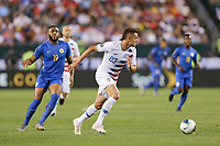 PHILADELPHIA, PENNSYLVANIA - JUNE 30: Aaron Long #23 during the 2019 CONCACAF Gold Cup quarterfinal match between the United States and Curacao at Lincoln Financial Field on June 30, 2019 in Philadelphia, Pennsylvania.