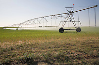 Center pivot irrigation in the Texas Panhandle near McLean