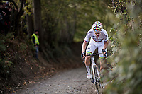 CX world champion Wout Van Aert (BEL/Crelan-Charles) up the Koppenberg<br /> <br /> Elite Men's race<br /> Koppenbergcross / Belgium 2017