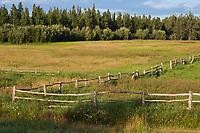 Wooden fence, Delta Junction, Alaska.