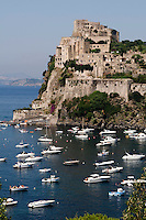 Castello Aragonese in Ponte, Ischia, Italien