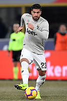 Emre Can of Juventus in action during the Italy Cup 2018/2019 football match between Bologna and Juventus at stadio Renato Dall'Ara, Bologna, January 12, 2019 <br />  Foto Andrea Staccioli / Insidefoto