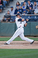 Johan Quevedo (16) of the Everett Aquasox at bat during a game against the Vancouver Canadians at Everett Memorial Stadium in Everett, Washington on July 16, 2015.  Vancouver defeated Everett 5-4. (Ronnie Allen/Four Seam Images)