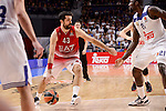 Real Madrid's Othello Hunter and EA7 Emporio Armani Milan's Krunoslav Simon during Turkish Airlines Euroleage match between Real Madrid and EA7 Emporio Armani Milan at Wizink Center in Madrid, Spain. January 27, 2017. (ALTERPHOTOS/BorjaB.Hojas)