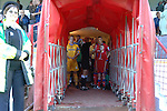 Aldershot Town 0 Torquay United 3, 15/08/2007. Recreation Ground, Football Conference.Torquay's first game in the Blue Square Premier. A 330 mile round trip to Aldershot Town's Recreation Ground. The players in the tunnel before kick off.