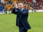 St Johnstone v Motherwell.....19.05.13      SPL.Steve Lomas applauds the fans.Picture by Graeme Hart..Copyright Perthshire Picture Agency.Tel: 01738 623350  Mobile: 07990 594431